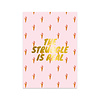 Studio Stationery Card Struggle Gold, per 5 pieces