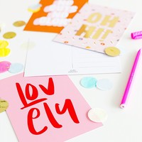 Card Lovely, per 5 pieces