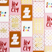 Card Lovely, per 10 pieces