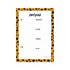Studio Stationery Notepad Cheetah, per 5 pieces