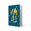 Studio Stationery Xmas card XMAS, per 5 stuks