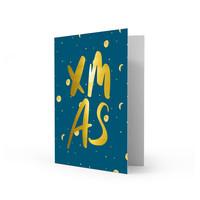 Xmas card XMAS, per 5 stuks