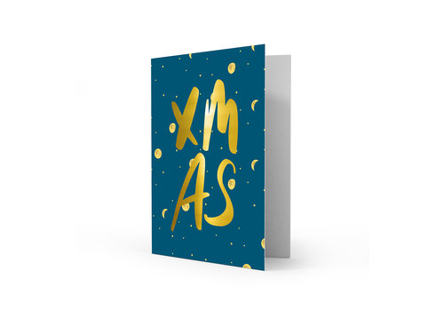 Studio Stationery Xmas card XMAS, per 5 pieces