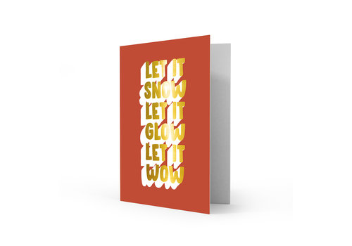 Studio Stationery Xmas card Let it wow, per 5 stuks