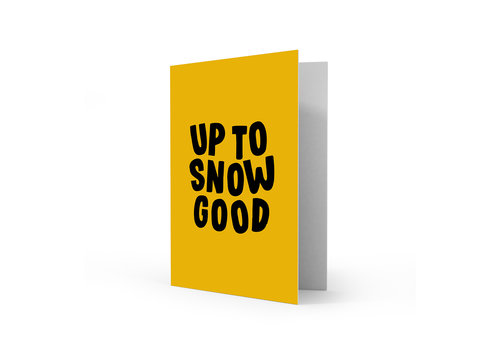 Studio Stationery Xmas card Up to snow good, per 5 stuks