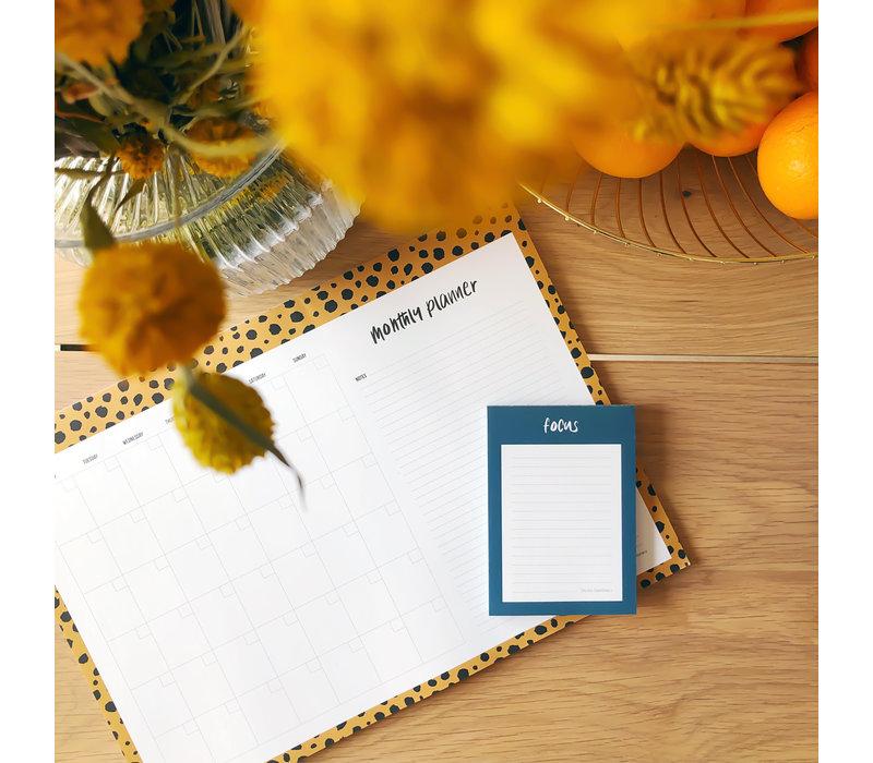 Monthly planner Cheetah, per 5 stuks