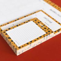 Notepad Cheetah, per 5 stuks
