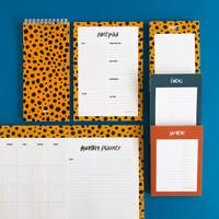 Notepad Cheetah, per 5 pieces