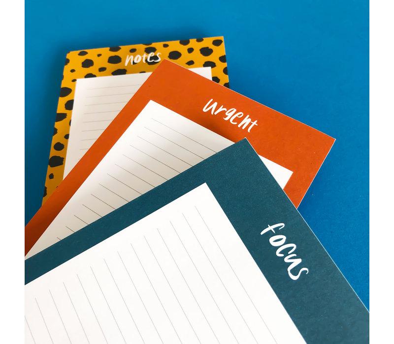 Noteblock Notes, per 6 stuks