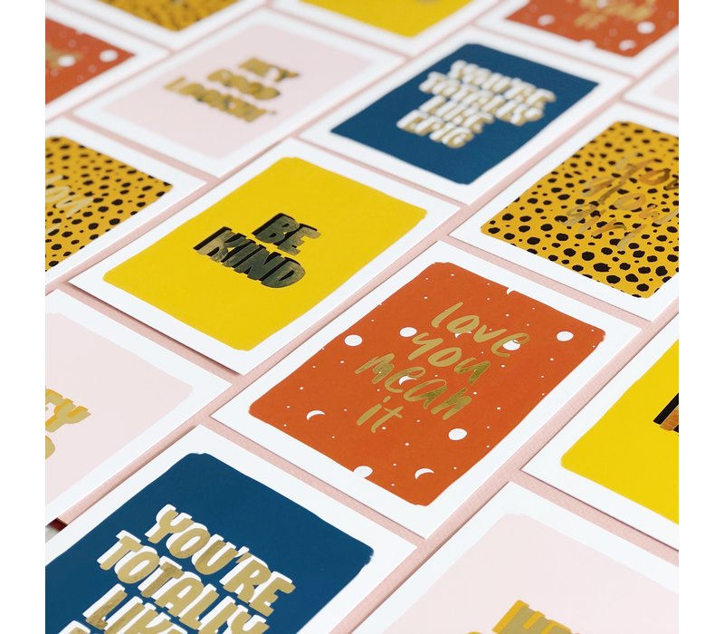 Card Love you mean it, per 5 pieces
