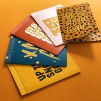 Xmas card Merry kissmas, per 5 stuks