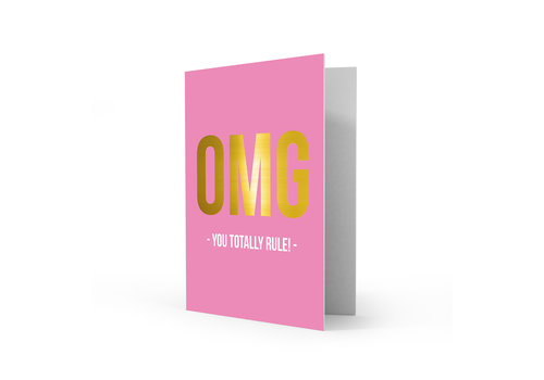 Studio Stationery Greeting card you rule, per 5 pieces