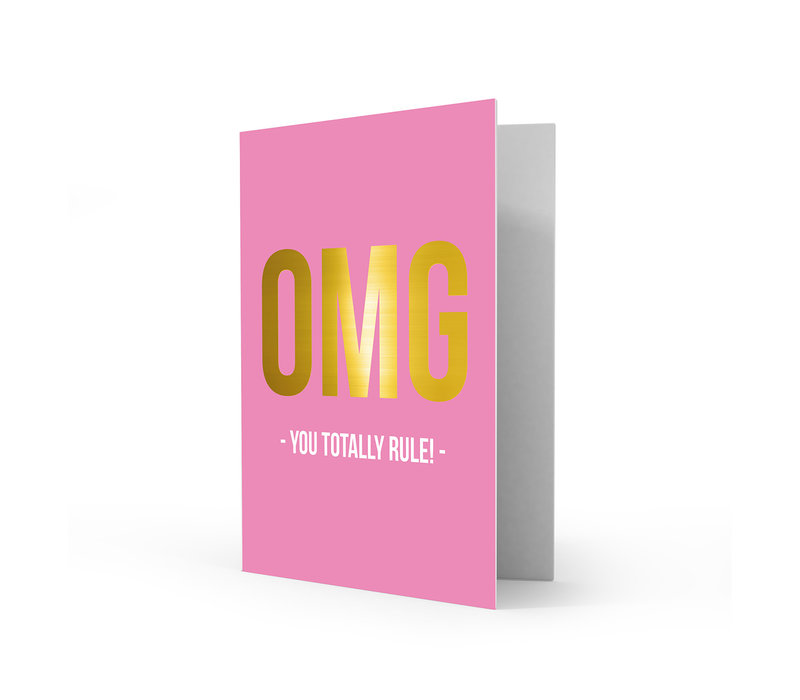 Greeting card you rule, per 5 pieces