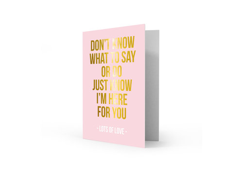 Studio Stationery Greeting card lots of love, per 5 pieces
