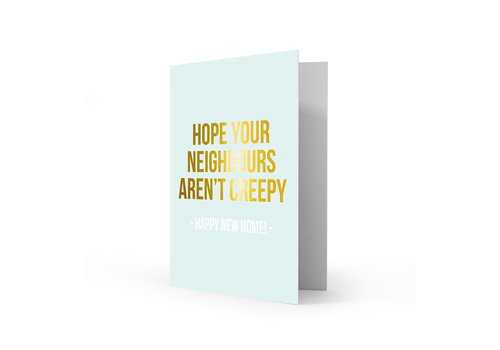 Studio Stationery Greeting card happy new home, per 5 pieces