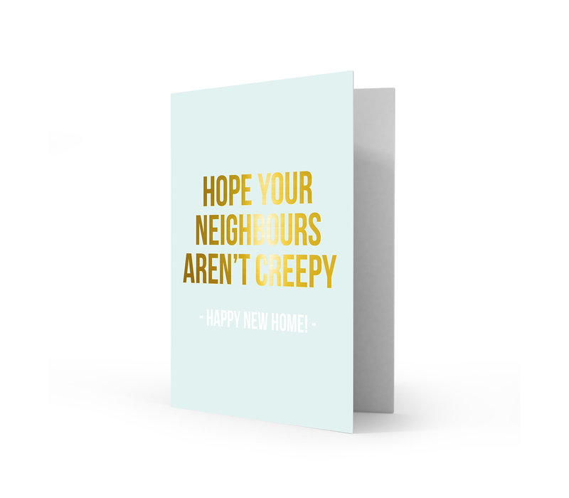 Greeting card happy new home, per 5 pieces