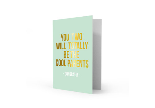 Studio Stationery Greeting card cool parents, per 5 pieces