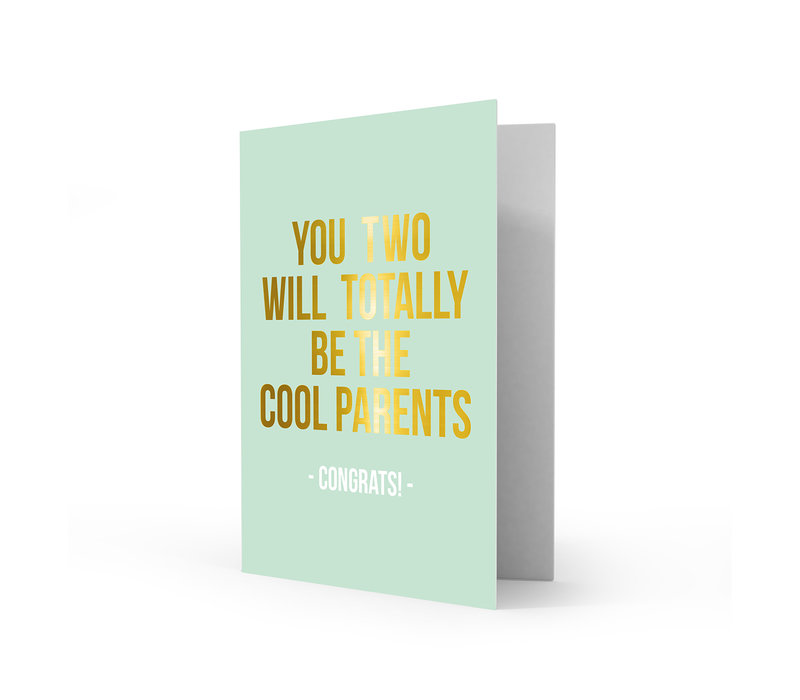 Greeting card cool parents, per 5 stuks