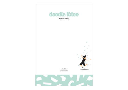 Studio Stationery A6 Noteblock Doodle Lidoo Dance Mint, per 6 stuks