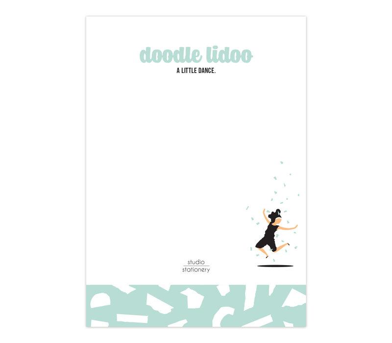 A6 Noteblock Doodle Lidoo Dance Mint, per 6 stuks