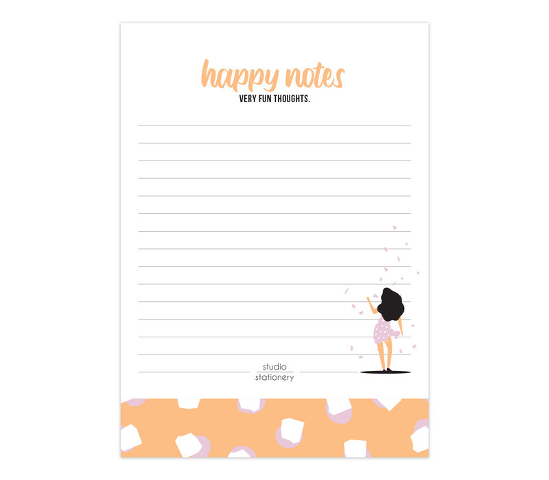 A6 Noteblock Happy Notes Very Fun Blush, per 6 stuks