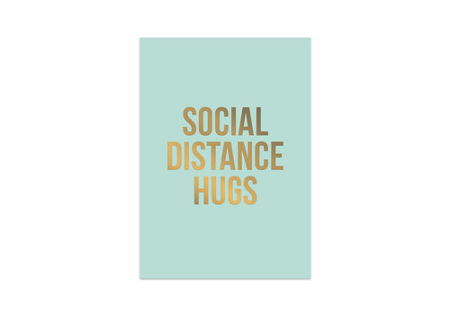 Studio Stationery Kaart Social Distance Hugs, per 10 stuks