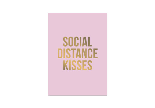 Studio Stationery Kaart Social Distance Kisses, per 10