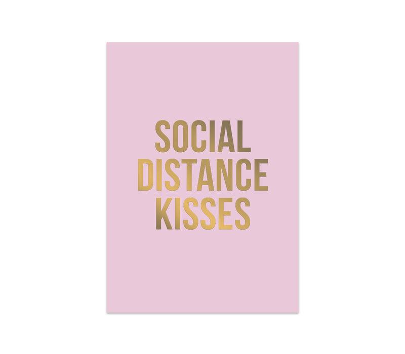 Card Social Distance Kisses, per 10