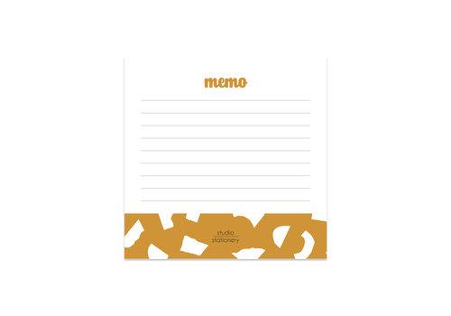 Studio Stationery Mini Memo Oker Confetti, per 5 stuks