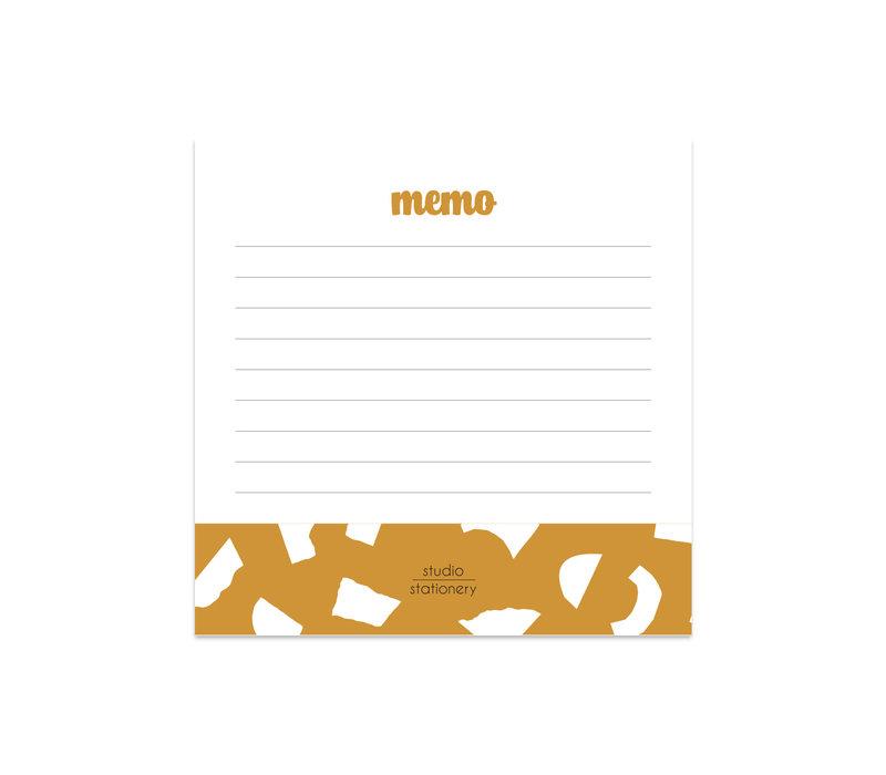 Mini Memo Oker Confetti, per 5 stuks
