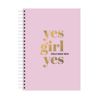 A5 Notebook Yes Girl Yes, per 3 stuks