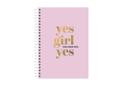 Studio Stationery A5 Notebook Yes Girl Yes, per 3 stuks