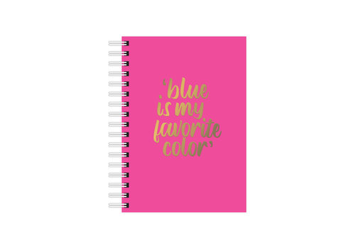 Studio Stationery A6 Notebook Blue is my favorite color, per 3 stuks