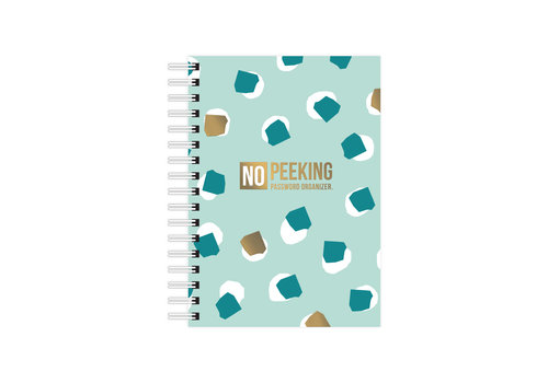 Studio Stationery A6 Notebook softcover No Peeking - Password organizer, per 3 stuks