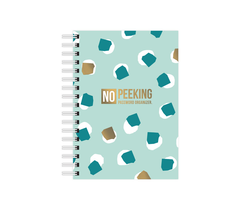 A6 Notebook softcover No Peeking - Password organizer, per 3 pieces
