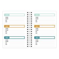 A6 Notebook softcover No Peeking - Password organizer, per 3 stuks