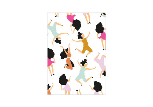Studio Stationery Card Dancing Queens, per 10 pieces