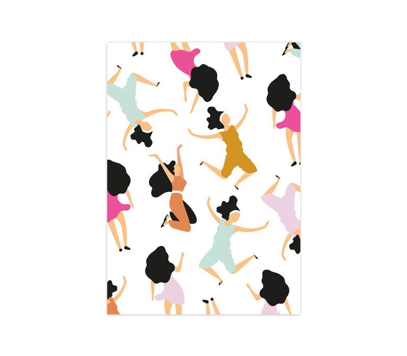 Kaart Dancing Queens, per 10 stuks