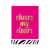 Studio Stationery Card Cheers my dears, per 10 pieces