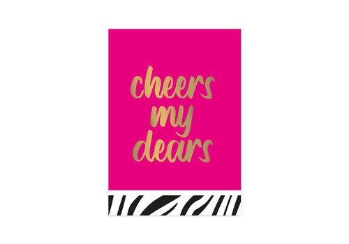 Studio Stationery Kaart Cheers my dears, per 10 stuks