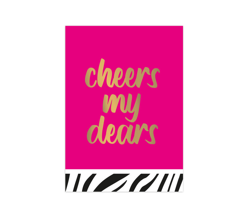 Card Cheers my dears, per 10 pieces