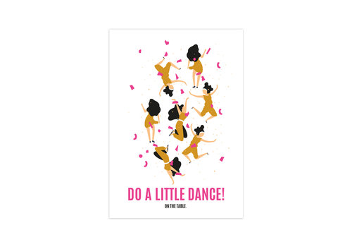 Studio Stationery Kaart Do a little dance, per 10 stuks