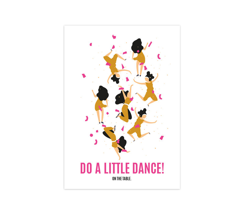 Kaart Do a little dance, per 10 stuks