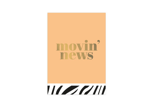 Studio Stationery Card Movin' news, per 10 pieces