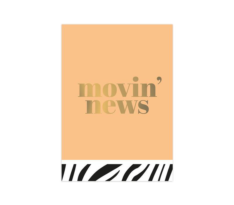 Kaart Movin' news, per 10 stuks