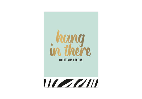 Studio Stationery Kaart Hang in there, per 10 stuks