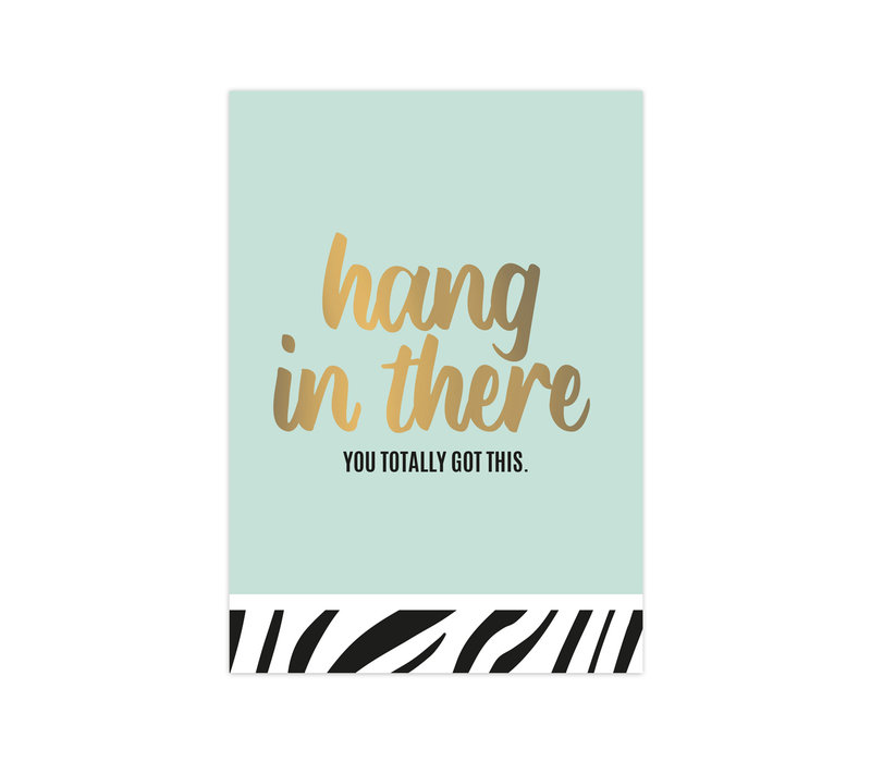 Card Hang in there, per 10 pieces