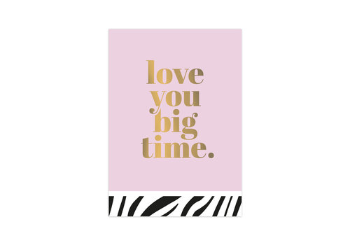 Studio Stationery Kaart Love you big time, per 10 stuks