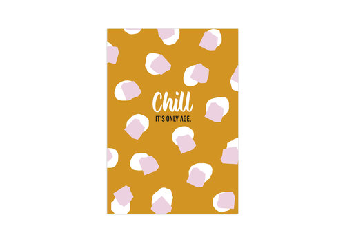 Studio Stationery Card Chill it's only age, per 10 pieces