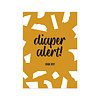 Studio Stationery Card Diaper Alert, per 10 pieces
